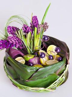 флористическая композиция, букет, составление букета, флорист.ру, мастер-класс, декор, цветы, листья, фрукты, своими руками, бюджетный декор