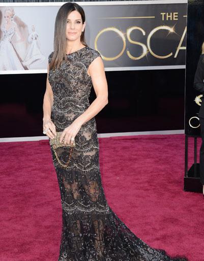 "Сандра Баллок (Sandra Bullock) на премии ""Оскар""-2013"