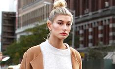 Осенний тренд: Хейли Болдуин в макси-пальто