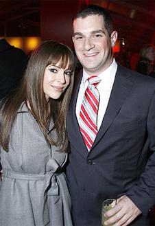 Алисса Милано и Дэвид Баглиари.