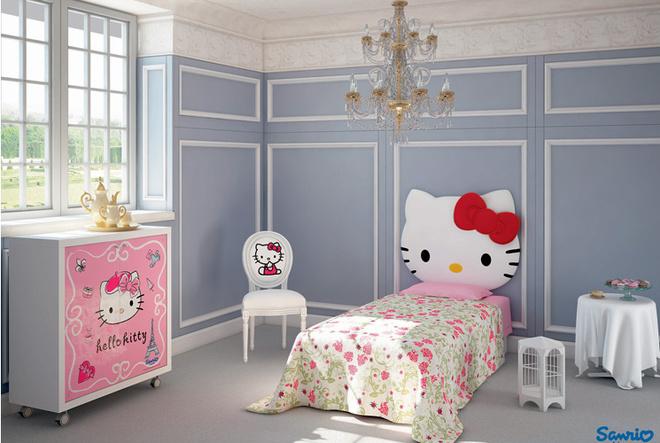 Некоторые серии предполагают несколько вариантов декора и отделки. В результате, располагая всего одной коллекцией, можно получить совершенно непохожие детские комнаты, скажем, вгородском, романтическом илиспортивном духе. Серия Hello Kitty (CIA International). Новинка