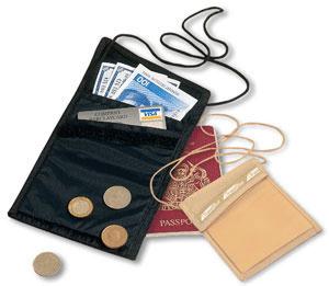 Потайное портмоне на шею, Travel Blue - 300 руб.
