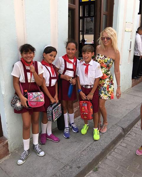 Яна Рудковская на Кубе