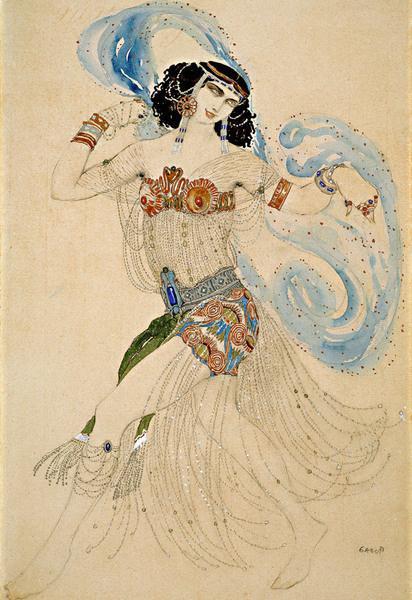 Лев Бакст «Саломея». Эскиз костюма к пьесе О.Уайльда «Саломея». 1908.