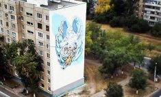«Ангел» на оренбургской многоэтажке готов на 95 процентов