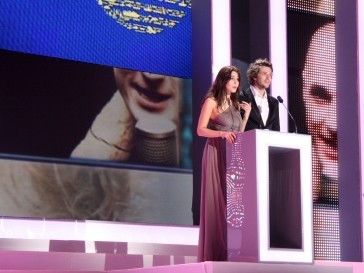 Ведущие церемонии открытия Юлия Снигирь и Григорий Добрыгин