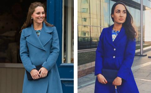 Носи как Миддлтон: синее пальто мечты