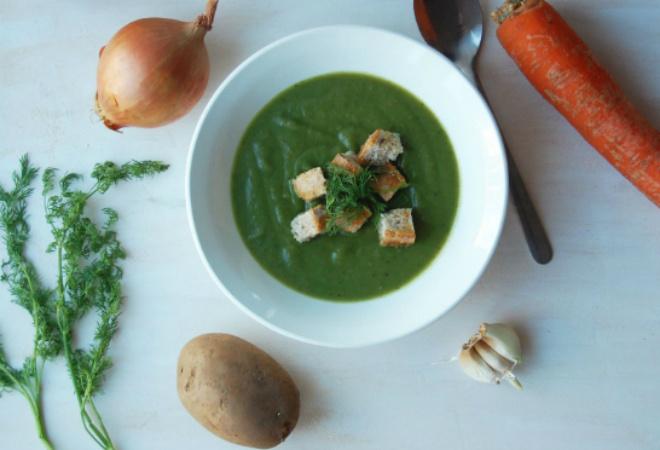 Крем-суп из шпината фото
