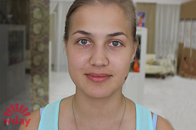 Валерия Пушина, макияж до и после, фото