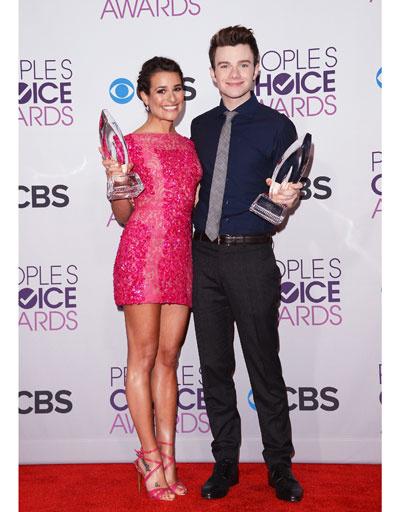 Леа Мишель (Lea Michele) и Крис Колфер (Chris Colfer)