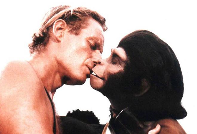 Поцелуй из «Планеты обезьян»