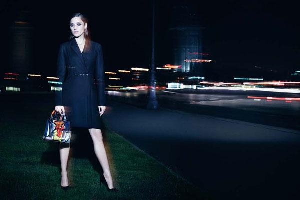 Марион Котийяр в рекламной кампании Lady Dior