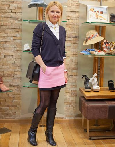 Юлия Бордовских на презентации коллекции весна-лето 2012 UGG Australia