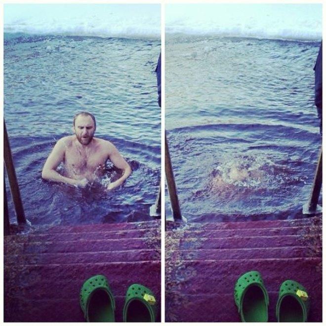 Гавр высоко ценит крещенские купания