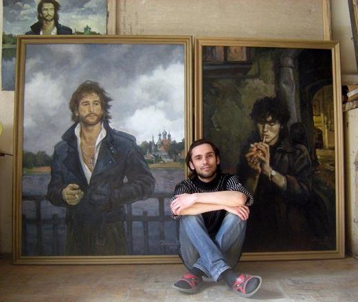 Портрет Талькова – это часть дипломной работы Сергея