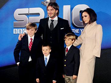 Супруги Бекхэм (Beckham) на церемонии BBC