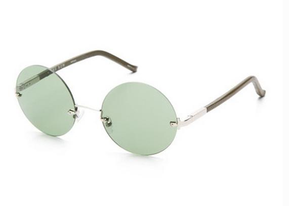 Круглые безоправные солнцезащитные очки The Row x Linda Farrow