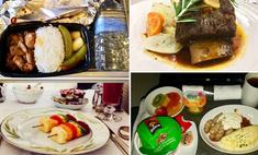 Чем кормят пассажиров разные авиакомпании (41 набор)