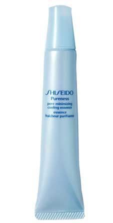 Охлаждающая эссенция Shiseido для уменьшения видимости пор. Делает кожу мягкой и гладкой.