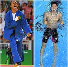 Эмоции спортсменов после победы на Олимпиаде