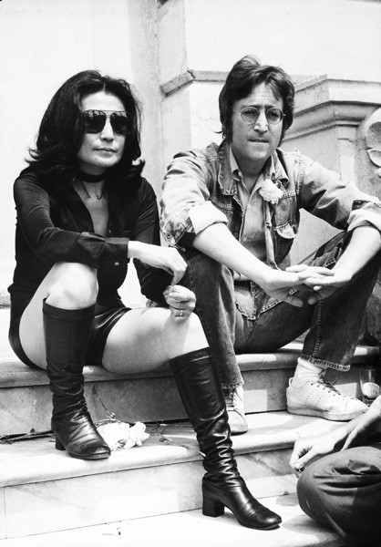 Йоко Оно и Джон Леннон в Каннах, 1970 год