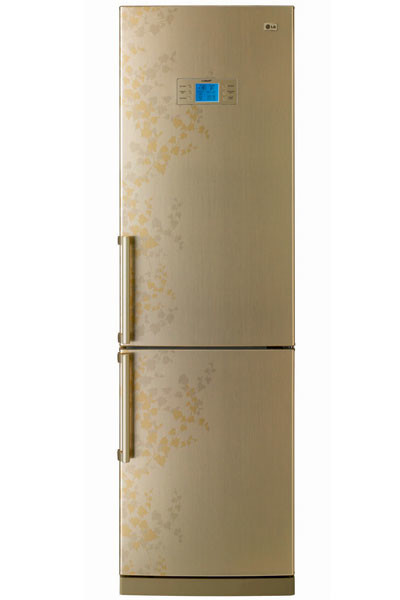 Холодильник с нижней морозильной камерой GR-B 469BVTP (LG), 39 000 руб., цвет – бежевый.