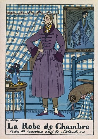 Домашний халат. Иллюстрация из журнала Monsieur, март 1921 года.