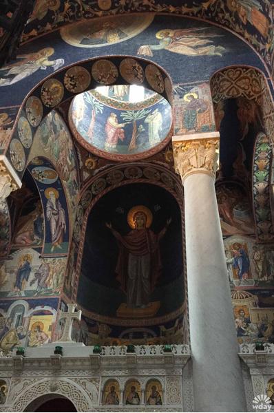 Мозаика в церкви Святого Георгия в Тополе