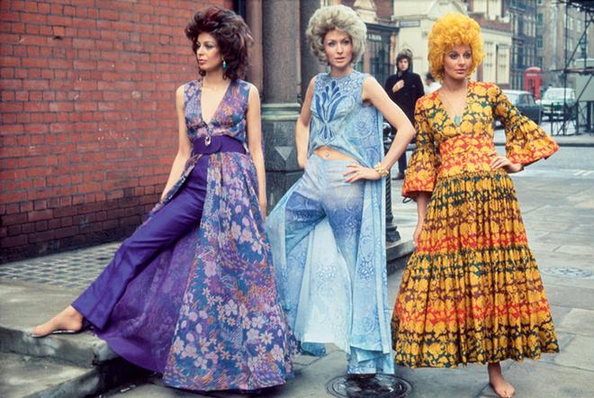 Модели в нарядах Biba, 1967 год.