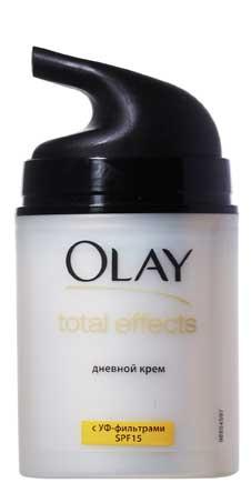 Дневной крем Оlay total effects сужает поры и делает их менее заметными, выравнивает поверхность кожи.