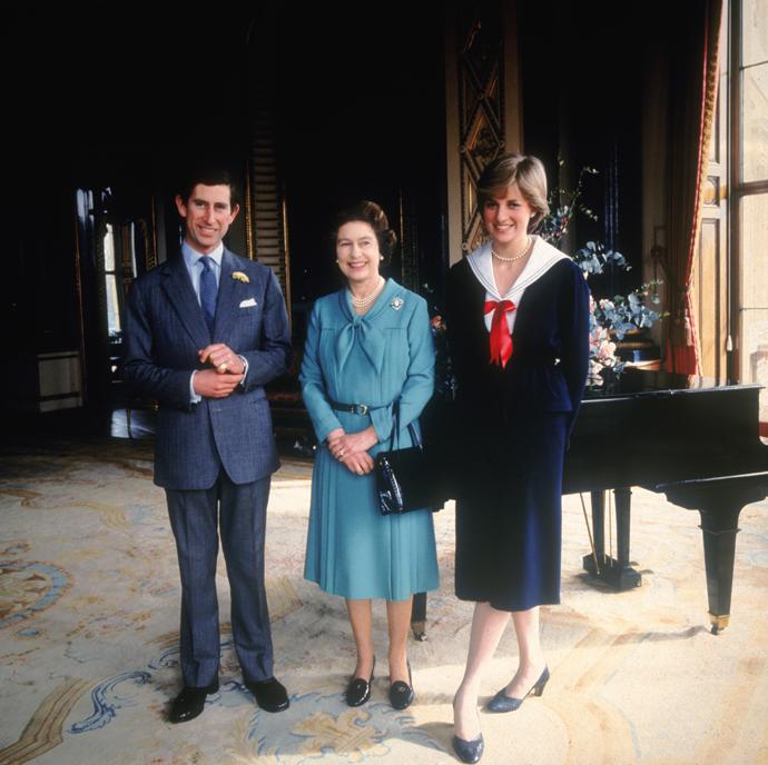 Принц Чарльз, Елизавета II и принцесса Диана