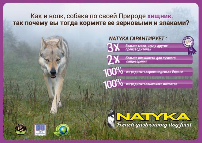 Корм Natyka, Натика корм для собак отзывы