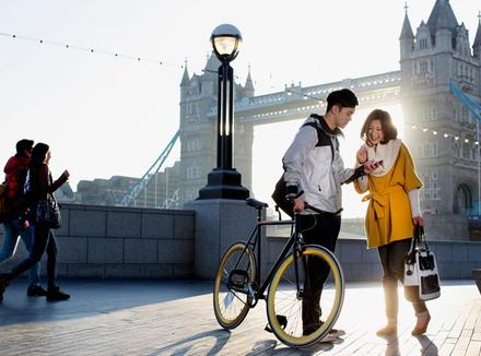 Молодые люди в Лондоне