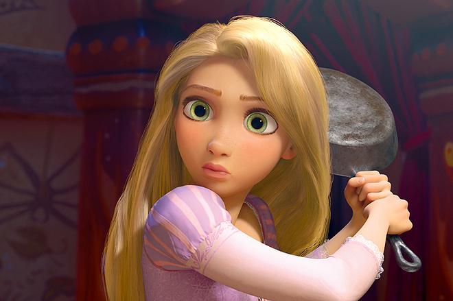 Рапунцель - очаровательная и решительная девушка, запертая в башне и отчаянно ищущая приключений.