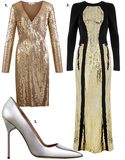 1. Платье Michael Michael Kors; 2. Star by Julien Macdonald for DEBENHAMS; 3. туфли Manolo Blahnik
