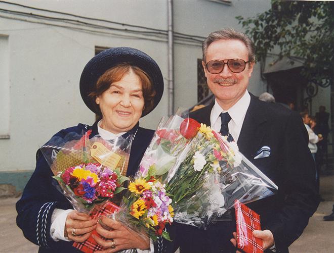 Юрий Соломин с женой