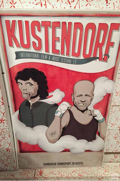 Кустурица на плакате кинофестиваля Kustendorf