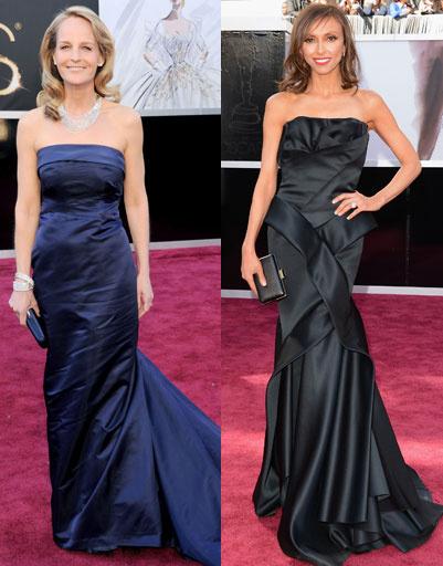 """Хелен Хант (Helen Hunt) и Джулиана Ранчич (Giuliana Rancic) на """"Оскаре""""-2013"""
