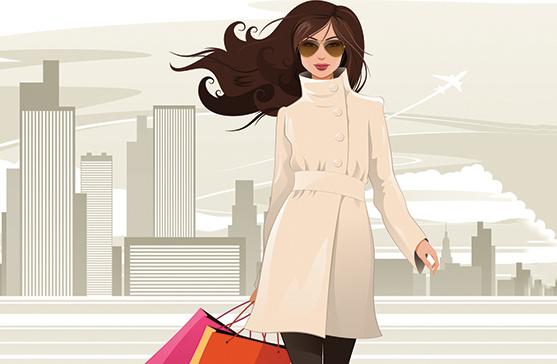 Девушка в пальто, фото