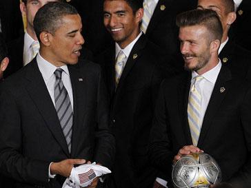 Дэвид Бекхэм (David Beckham) и Барак Обама (Barak Obama)