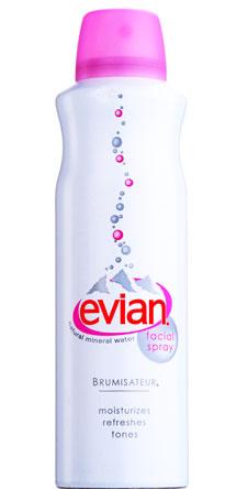 Натуральная минеральная вода для лица, Brumisateur, Evian. Мгновенно увляжняет кожу.