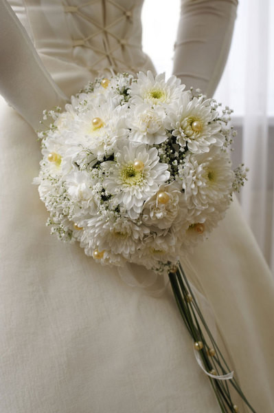 Цветок букет невесты в горшке