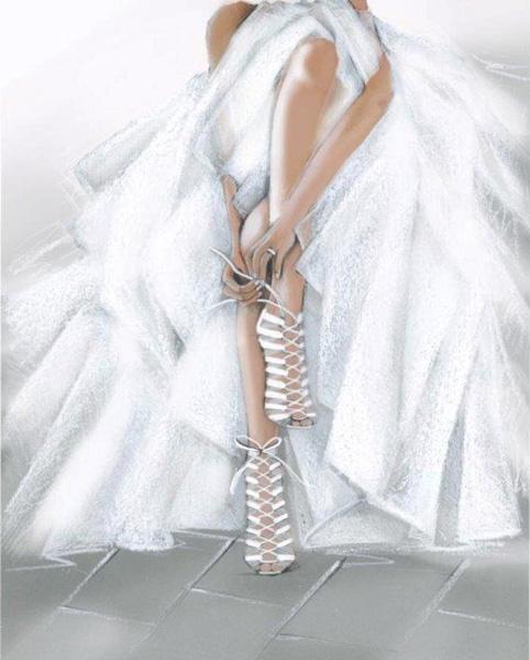 Свадебные босоножки Casadei