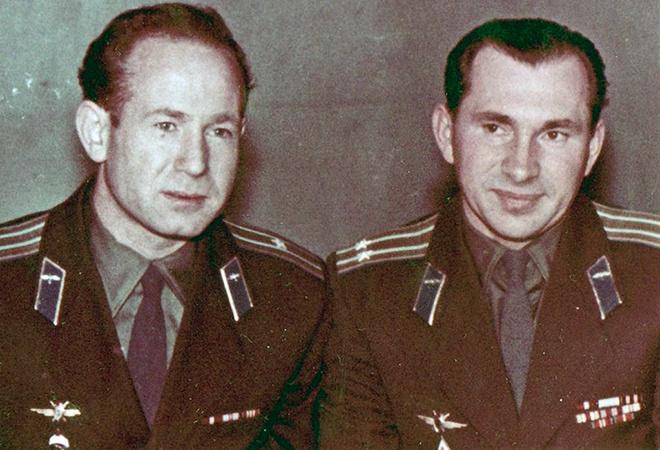 Алексей Леонов и Павел Беляев