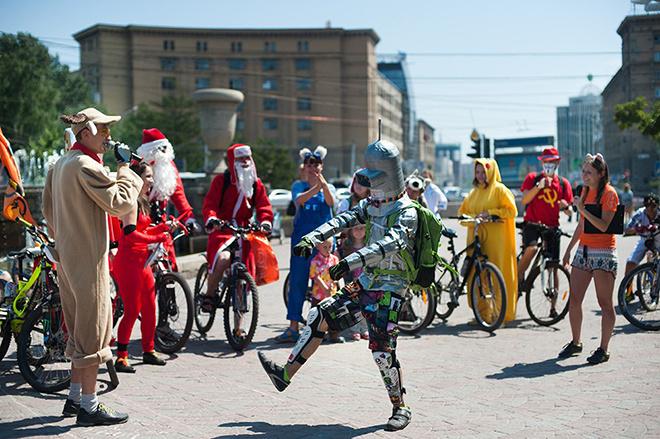 Велокарнавал в Новосибирске