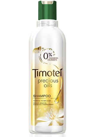 Восстанавливающий шампунь с маслами арганы и миндаля Precious Oils, Timotei