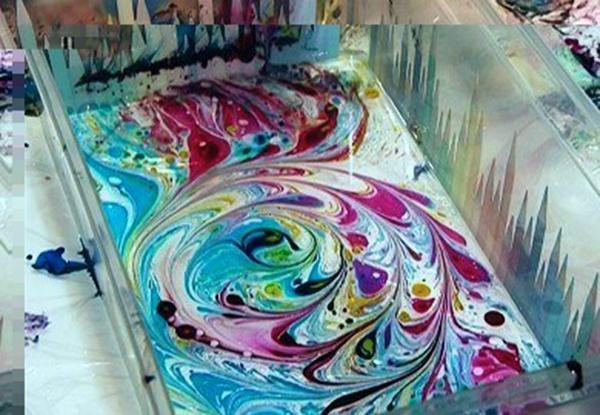 Мастер-класс по живописи на воде эбру