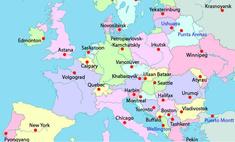 Загадка дня: По какому принципу нанесены эти города на карту Европы?