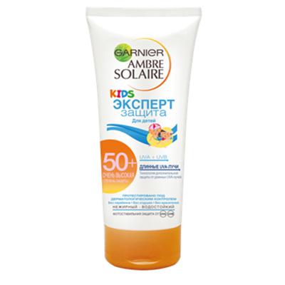 Garnier, Ambre Solaire, Солнцезащитный крем для детей Эксперт, SPF 50+, 710 рублей