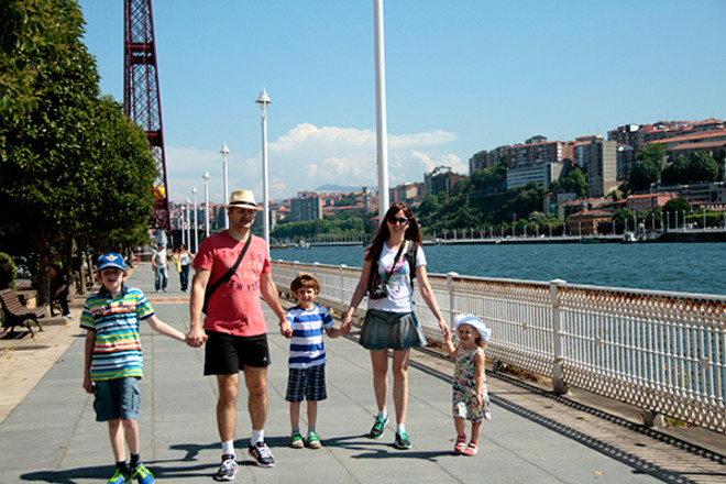 Марина Бельская с семьей